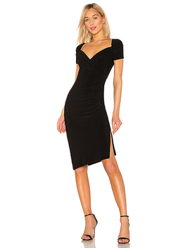 X Revolve Sweetheart Side Drape Dress In Black by Norma Kamali