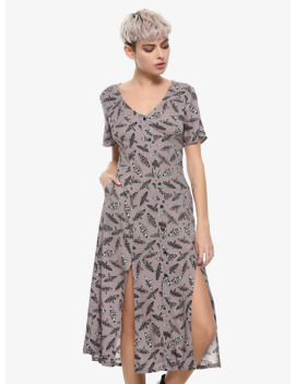 Grey Moth Midi Dress by Hot Topic