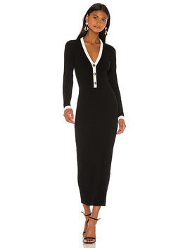 Mirella Dress In Black & White by Ronny Kobo
