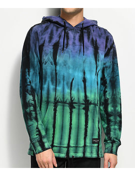 Empyre Reef Purple, Green &Amp; Teal Tie Dye Hoodie by Empyre