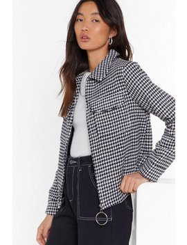 Nothin' But The Houndstooth Relaxed Jacket by Nasty Gal