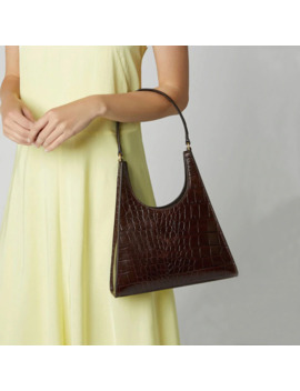 Women Handbag Retro Alligator Subaxillary Bag Vintage Small Triangle Baguette Bags Female Luxury Crocodile Shoulder Bag Lady A155 by Ali Express.Com