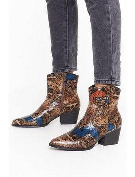 Rare Breed Snake Cowboy Boots by Nasty Gal