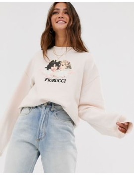Fiorucci – Vintage Angels – Sweatshirt In Blassrosa by Asos