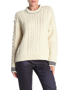 Brighton Lambswool Aran Sweater by Rag & Bone
