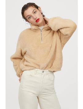 Teddy Sweater Met Rits by H&M