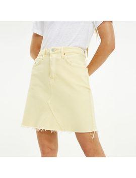 Raw Hem Stretch Denim Skirt by Tommy Hilfiger