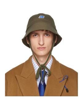 Khaki Alice Bucket Hat by Ader Error