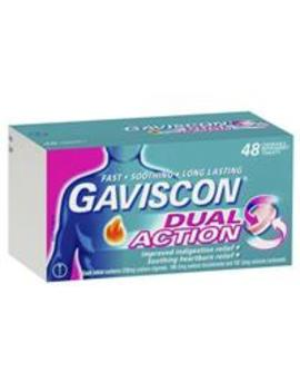 Gaviscon Dual Action Tablets For Heartburn And Indigestion 48 Pack by Medicines