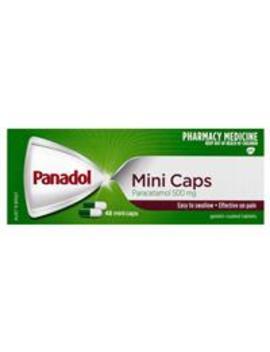 Panadol Mini Caps For Pain Relief Paracetamol 500mg 48 by Analgesics