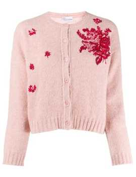 'Red Valentino' Floral Embroidered Cardigan by Red Valentino