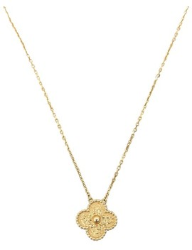 yellow-gold-vintage-alhambra-pendant-necklace by van-cleef-&-arpels