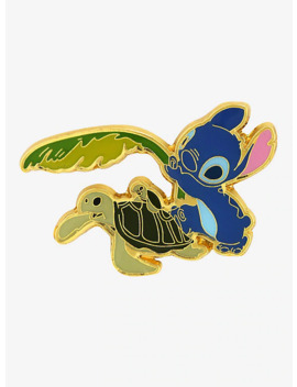 Loungefly Disney Lilo & Stitch Turtle Enamel Pin   Box Lunch Exclusive by Box Lunch