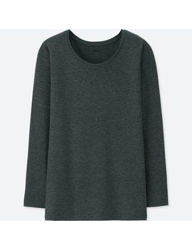 T Shirt Thermique Heattech À Col Rond Femme by Uniqlo