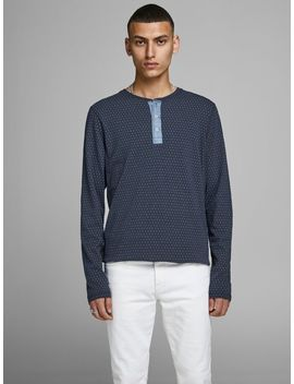 Denim Detail Long Sleeved T Shirt by Jack & Jones
