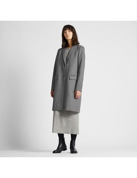Manteau Chesterfield En MÉlange Cachemire Femme by Uniqlo