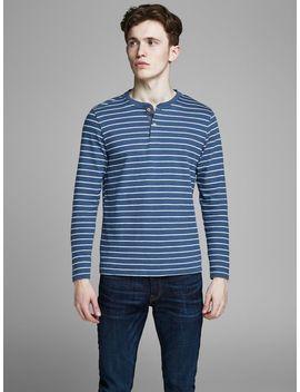 Striped Long Sleeved T Shirt by Jack & Jones