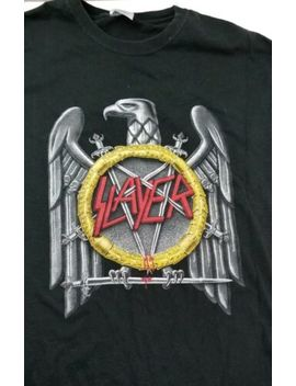 Vintage Slayer Shirt Men's Large Band Tee by Hanes