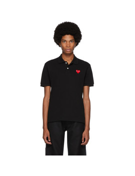 Black Heart Patch Polo by Comme Des GarÇons Play
