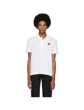 White Heart Patch Polo by Comme Des GarÇons Play