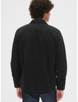 Sherpa Lined Shirt Jacket by Gap