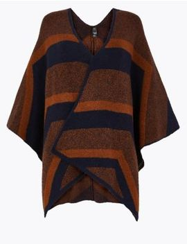 Chevron Colour Block Wrap by Marks & Spencer