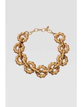 Limited Edition Engraved Chain Link Necklace by Zara
