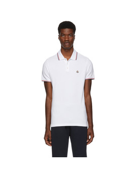 White Logo Patch Polo by Moncler