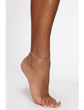 Keeping It Simple Anklet   Gold by Fashion Nova
