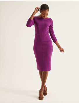 Aurelia Ottoman Dress   Ultra Violet by Boden