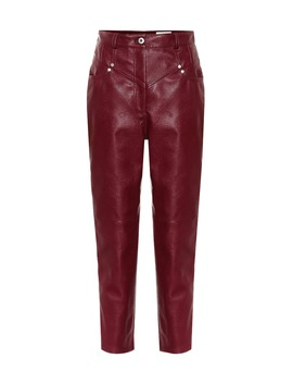 Exclusive To Mytheresa – High Rise Faux Leather Straight Pants by Stella Mc Cartney