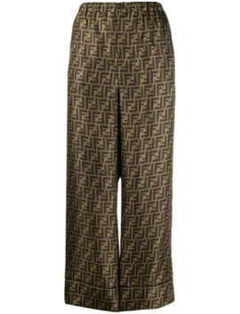 Cropped Palazzo Trousers by Fendi