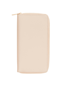 Leather Travel Wallet With Zip Almond: Signature Edition by Kikki.K