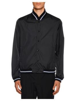 Men's Dubost Bomber Jacket With Varsity Stripes by Moncler