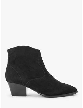 Ash Heidi Block Heel Suede Ankle Boots, Black by Ash