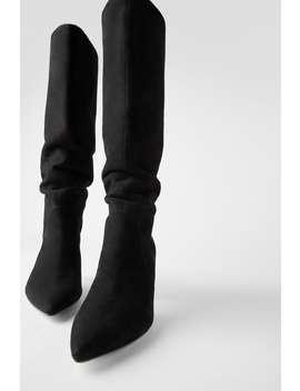 Stiefel Aus Veloursleder by Zara