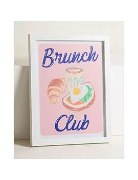 Brunch Club Diamond Dust Wall Art by Olivar Bonas