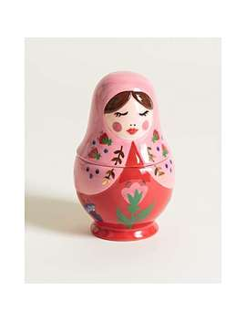 Babushka Pink Ceramic Trinket Pot by Olivar Bonas