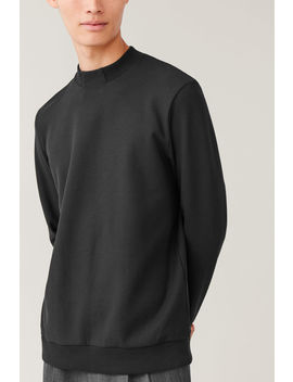 Boxy Cotton Mix Sweatshirt by Cos