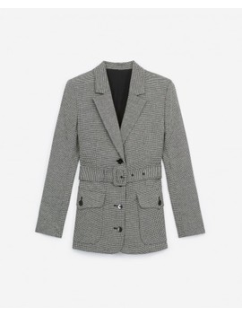 Formal Wool Jacket With Houndstooth Motif by The Kooples