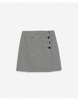 Formal Mini Skirt With Houndstooth Print by The Kooples