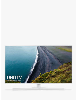 "Samsung Ue50 Ru7410 (2019) Hdr 4 K Ultra Hd Smart Tv, 50"" With Tv Plus/Freesat Hd & Apple Tv App, White by Samsung"