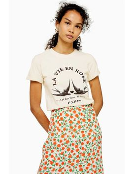 Tall La Vie En Rose T Shirt by Topshop