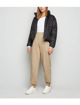 Camel Cuffed Joggers by New Look