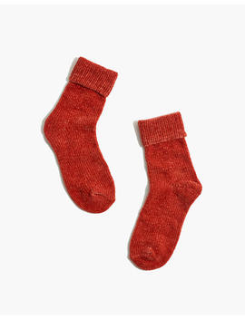 Madewell X Hansel From Basel™ Chenille Velour Cuffed Trouser Socks by Madewell