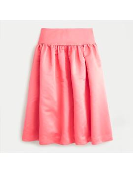 A Line Midi Skirt In Duchess Satin by J.Crew