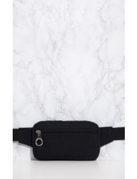 Black Soft Touch Bum Bag by Prettylittlething