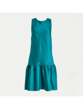 Bow Back Shift Dress In Duchess Satin by J.Crew