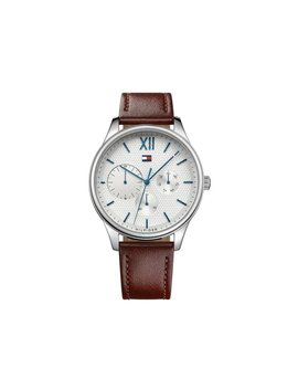 Tommy Hilfiger Men's 44mm Damon Leather Watch   Brown by Tommy Hilfiger