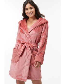 Supersoft Robe With Faux Fur Trims by Next